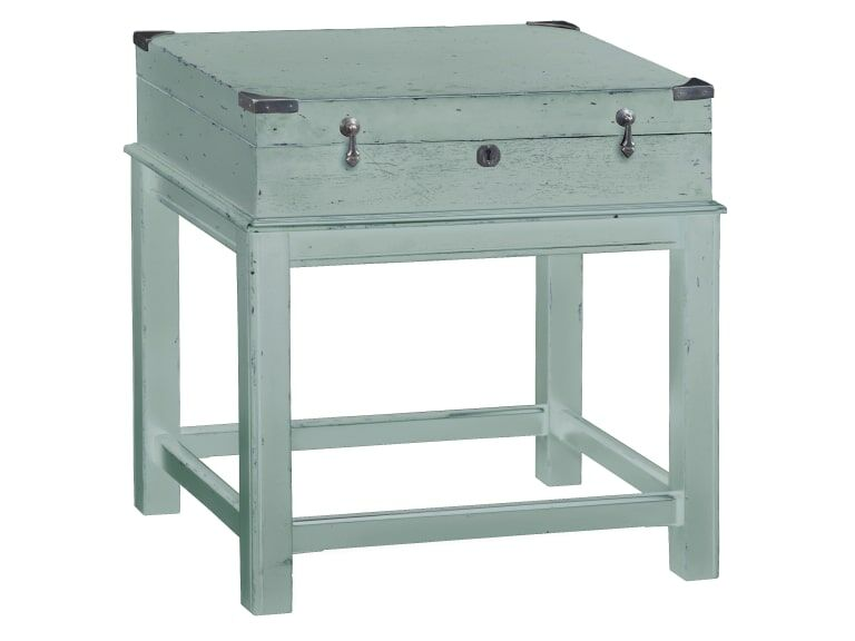 Colne Box On Stand End Table Color: Blue