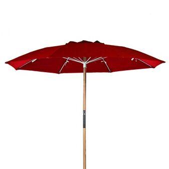 7.5' Beach Umbrella Fabric: Logo Red Acrylic
