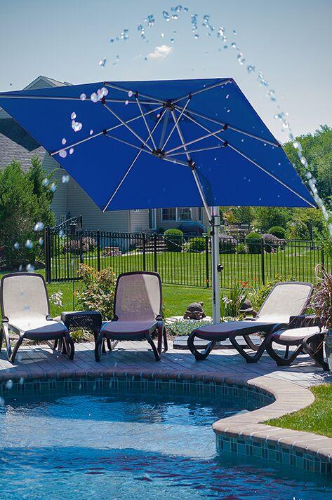 Aurora 9' Square Cantilever Umbrella Color: Pacific Blue