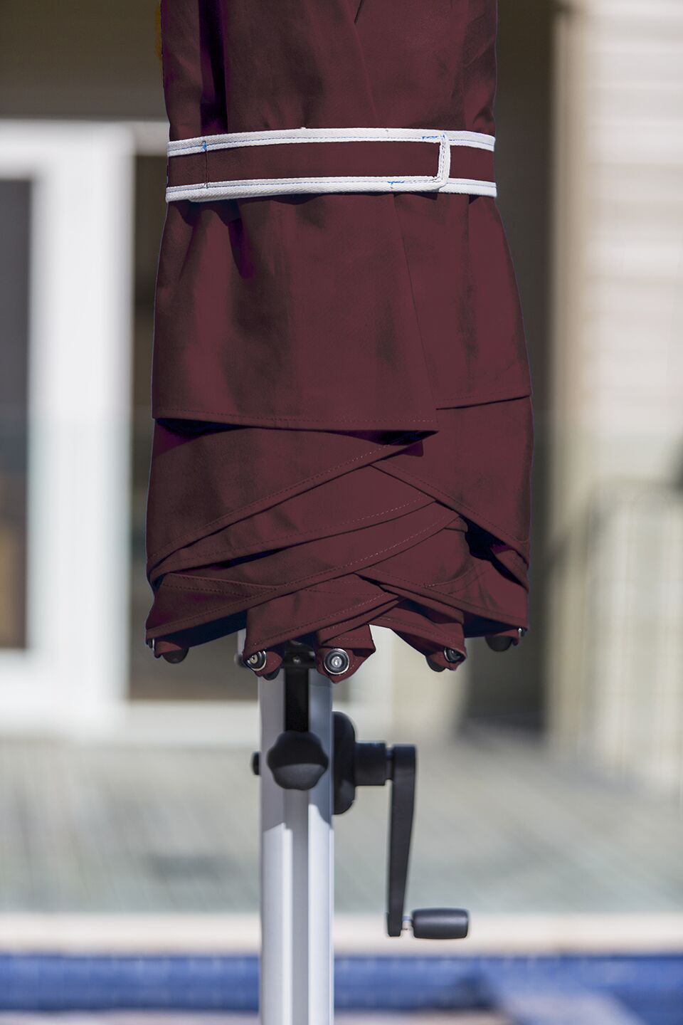 Aurora 11' Cantilever Umbrella Color: Burgundy