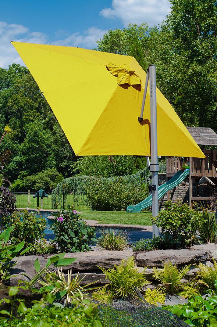 Aurora 9' Square Cantilever Umbrella Color: Sunflower Yellow