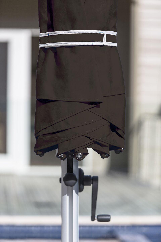 Aurora 9' Square Cantilever Umbrella Color: Brown
