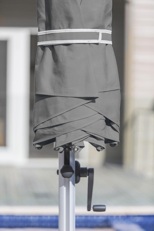 Aurora 9' Square Cantilever Umbrella Color: Cadet Gray