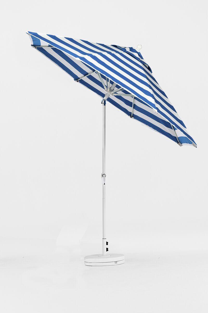 9' Market Umbrella Finish: Silver, Color: Yellow & White Stripe