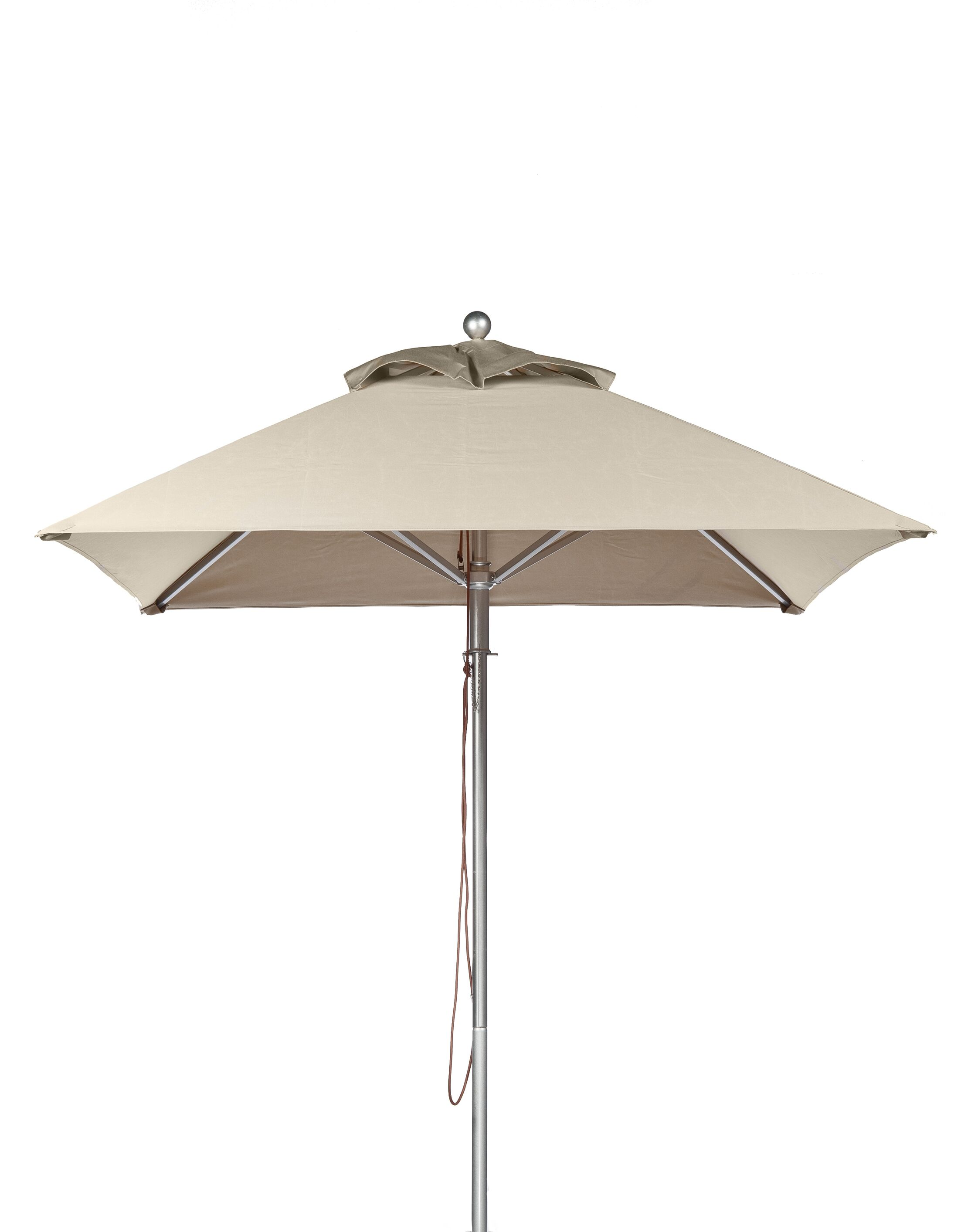 7.5' Square Market Umbrella Fabric: Linen