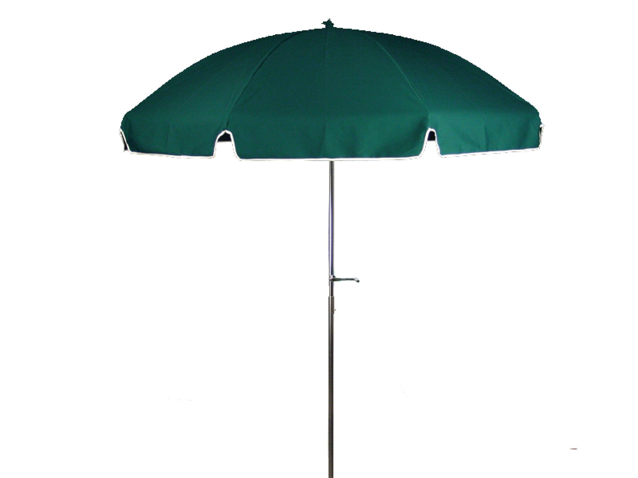 7.5' Beach Umbrella Fabric: Forest Green