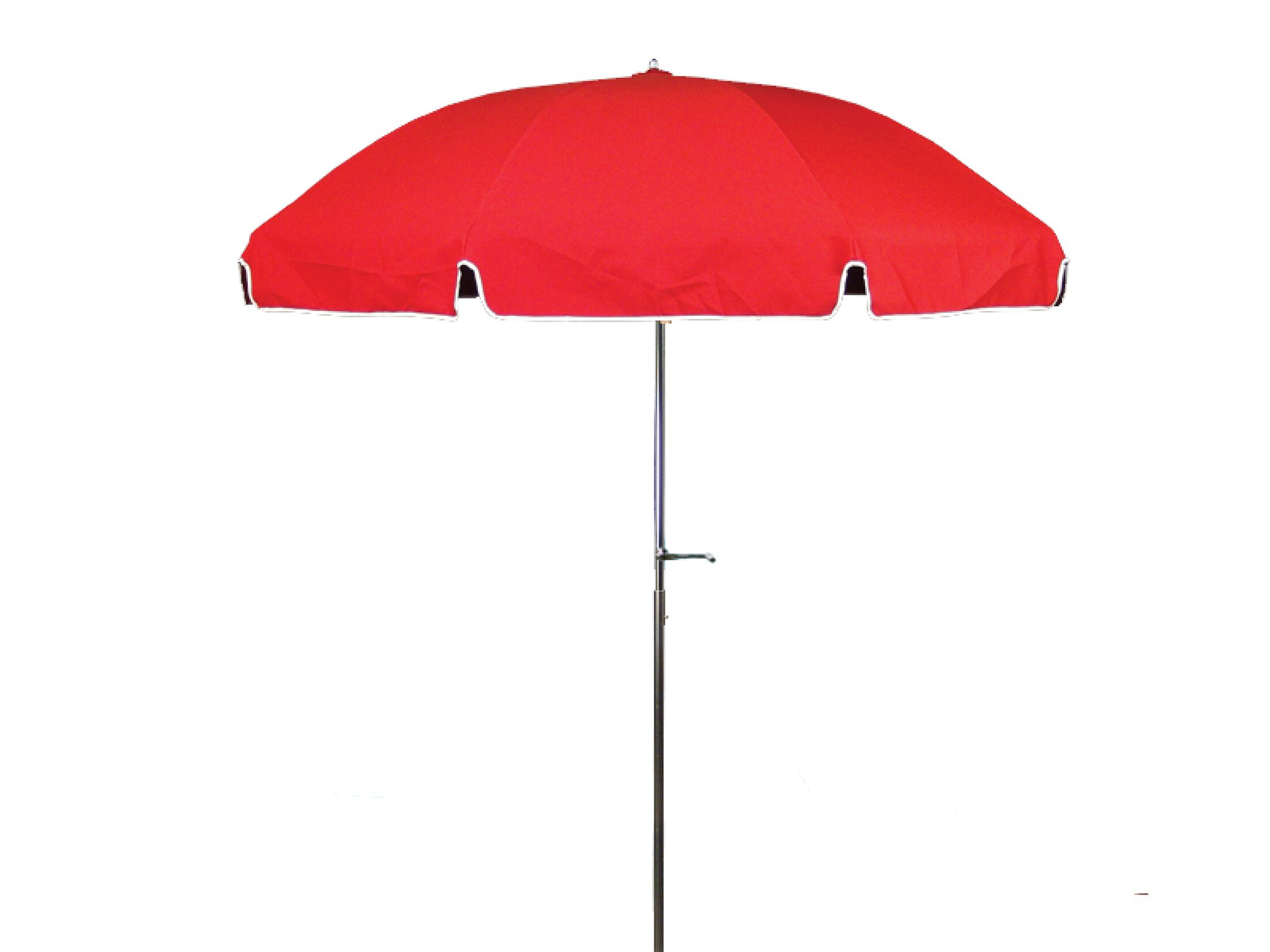 7.5' Beach Umbrella Fabric: Logo Red