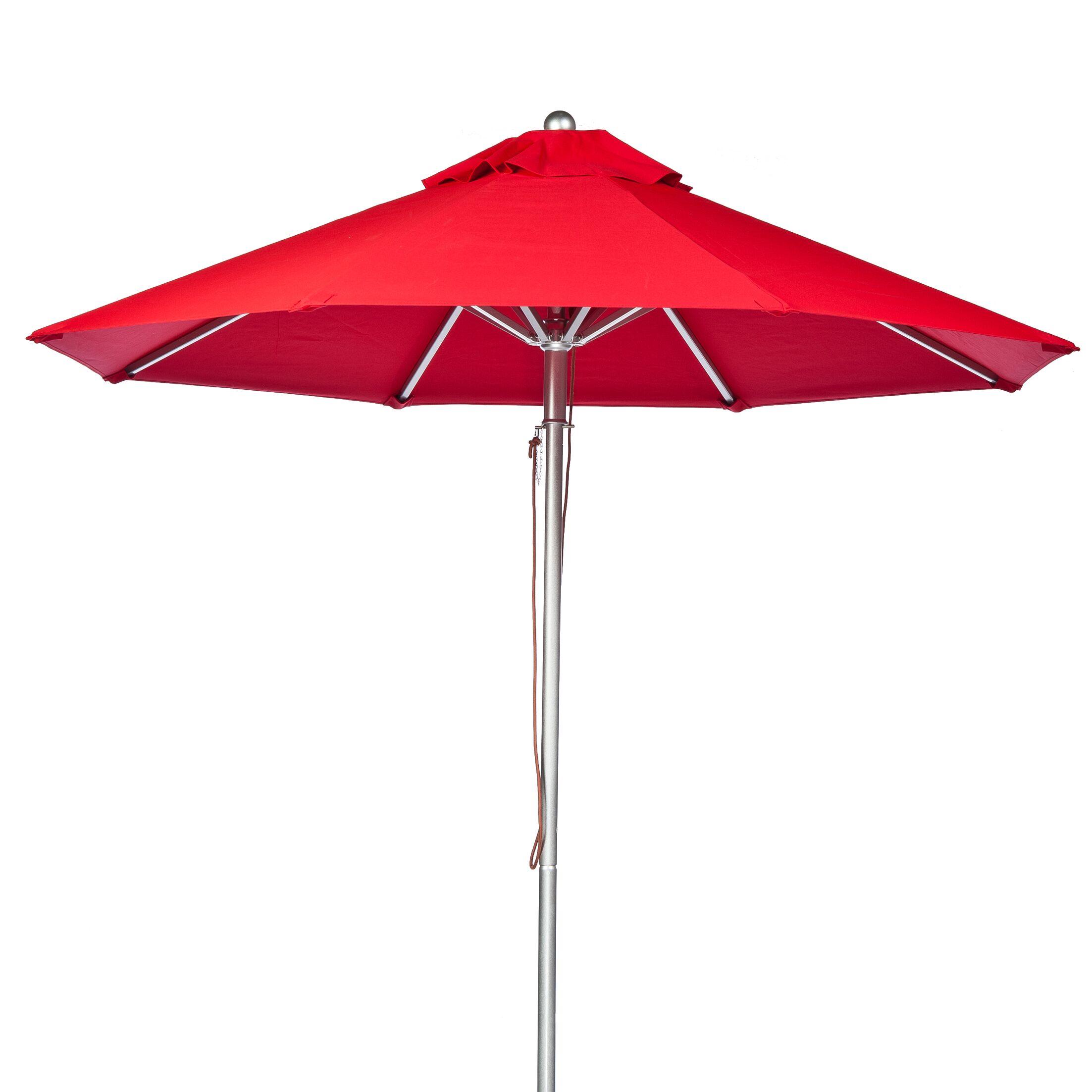 9' Market Umbrella Fabric: Logo Red