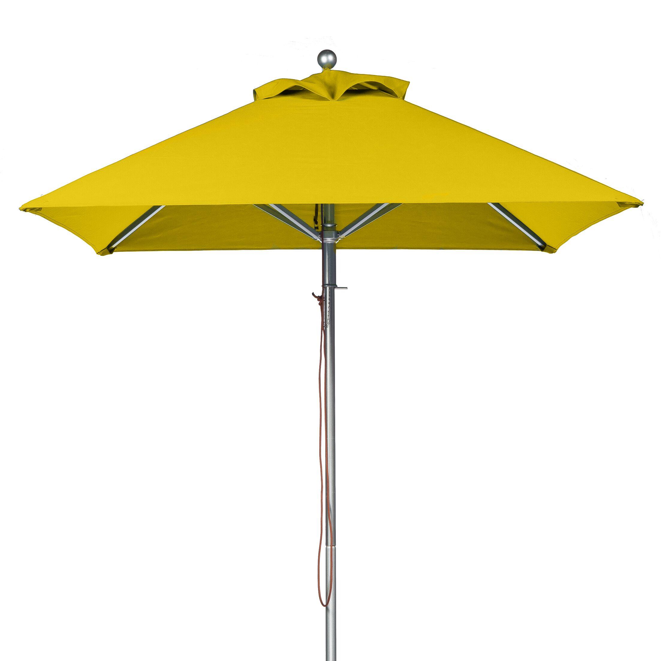 6.5' Square Market Umbrella Fabric: Yellow