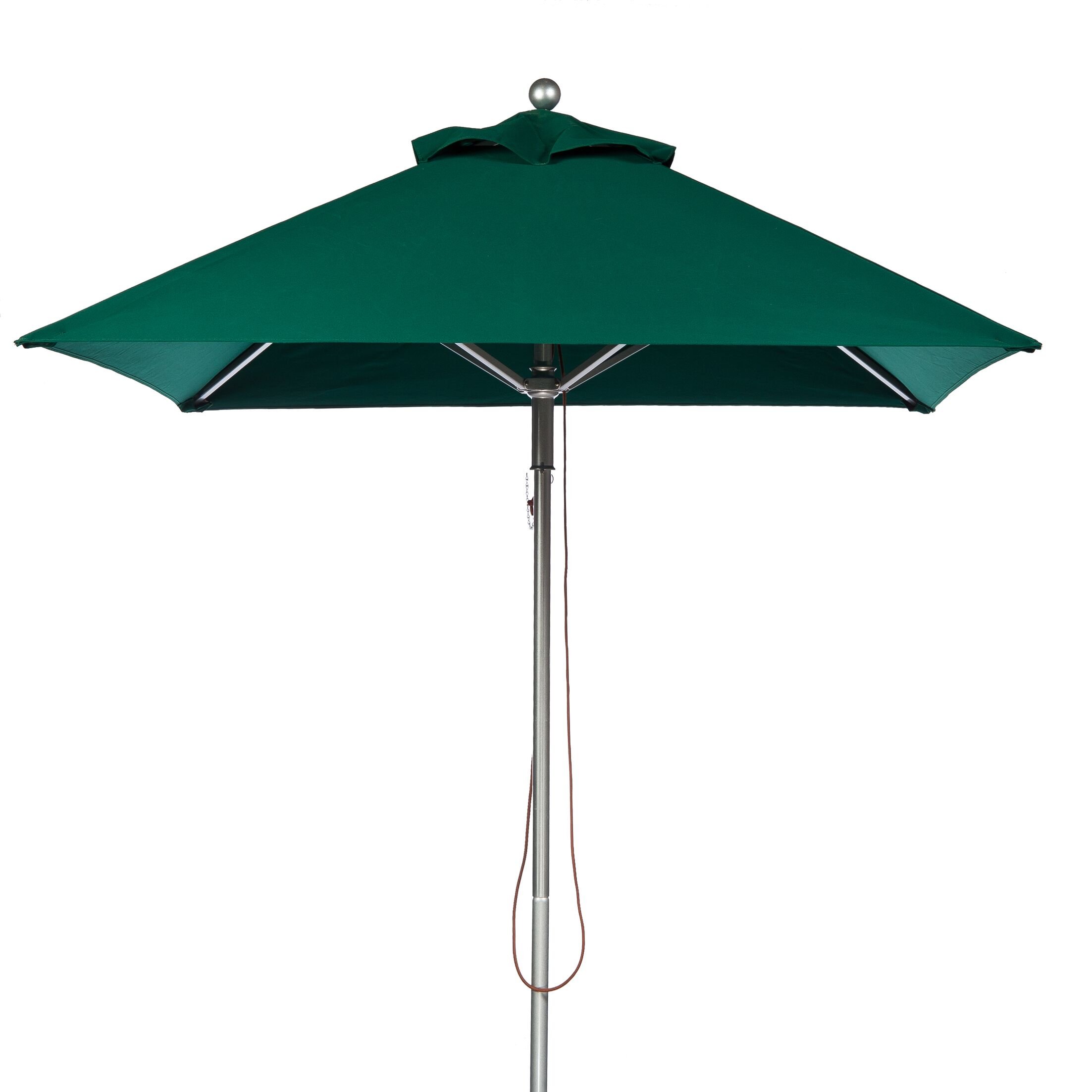 7.5' Square Market Umbrella Fabric: Forest Green