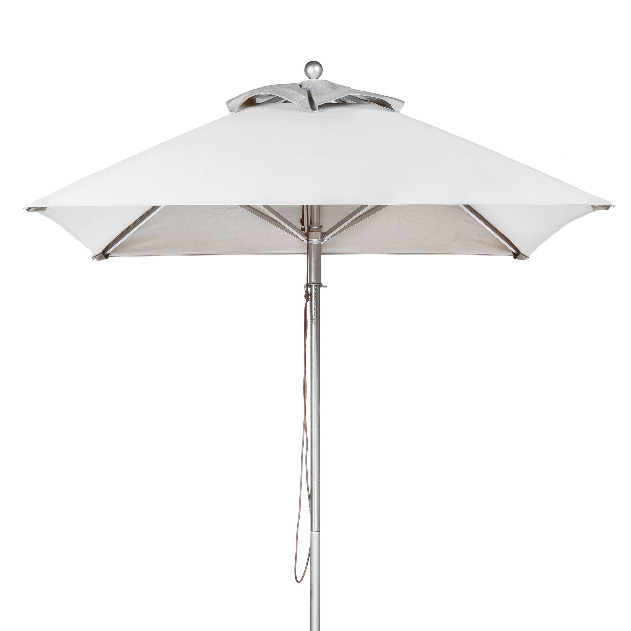7.5' Square Market Umbrella Fabric: White