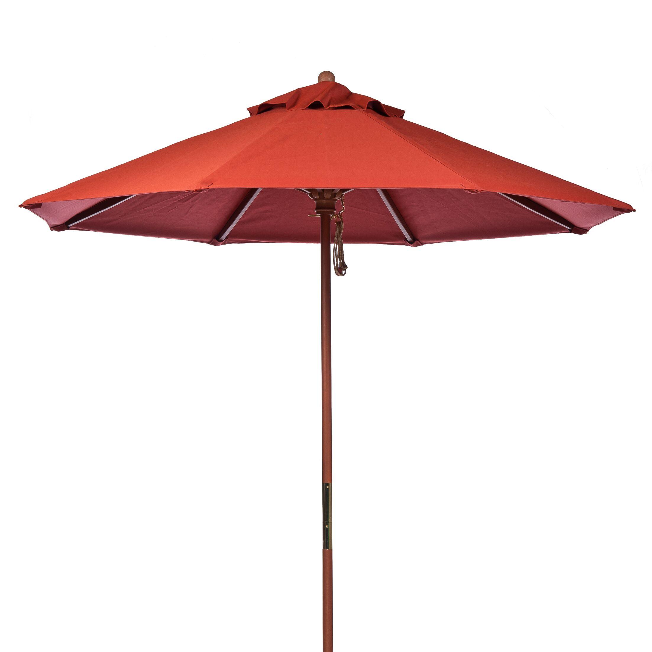 9' Market Umbrella Fabric: Terra Cotta