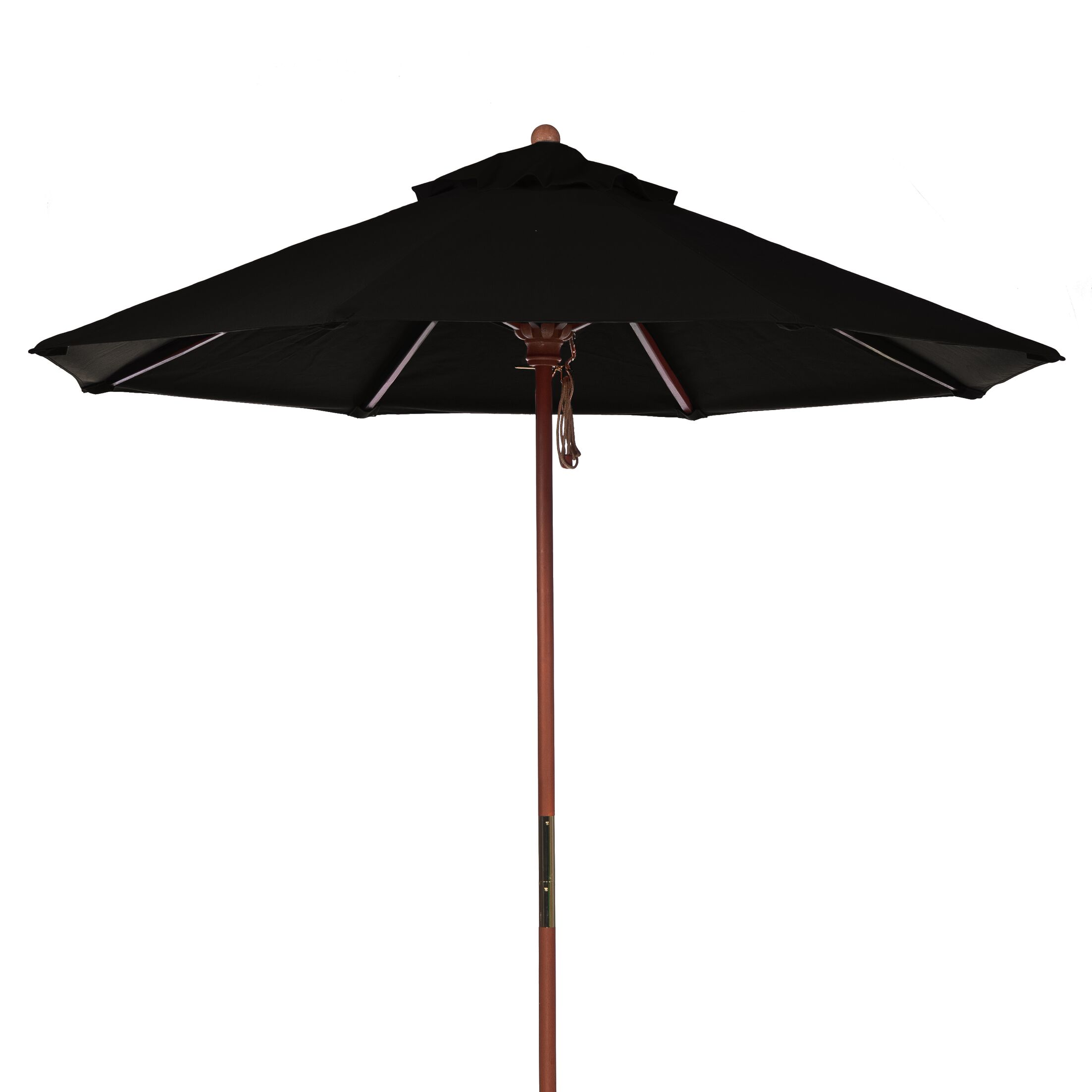 9' Market Umbrella Fabric: Black