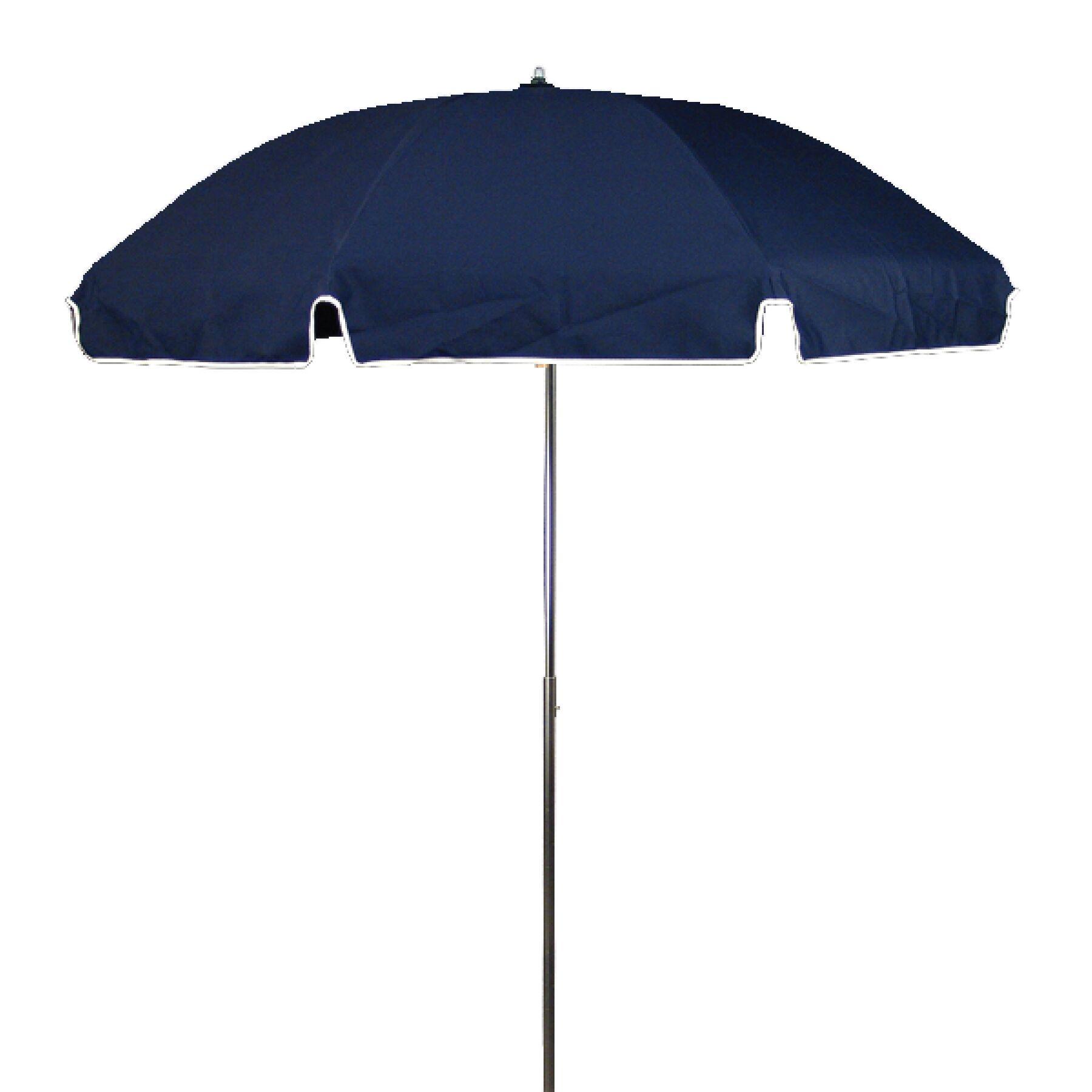 7.5' Drape Umbrella Fabric: Navy Blue