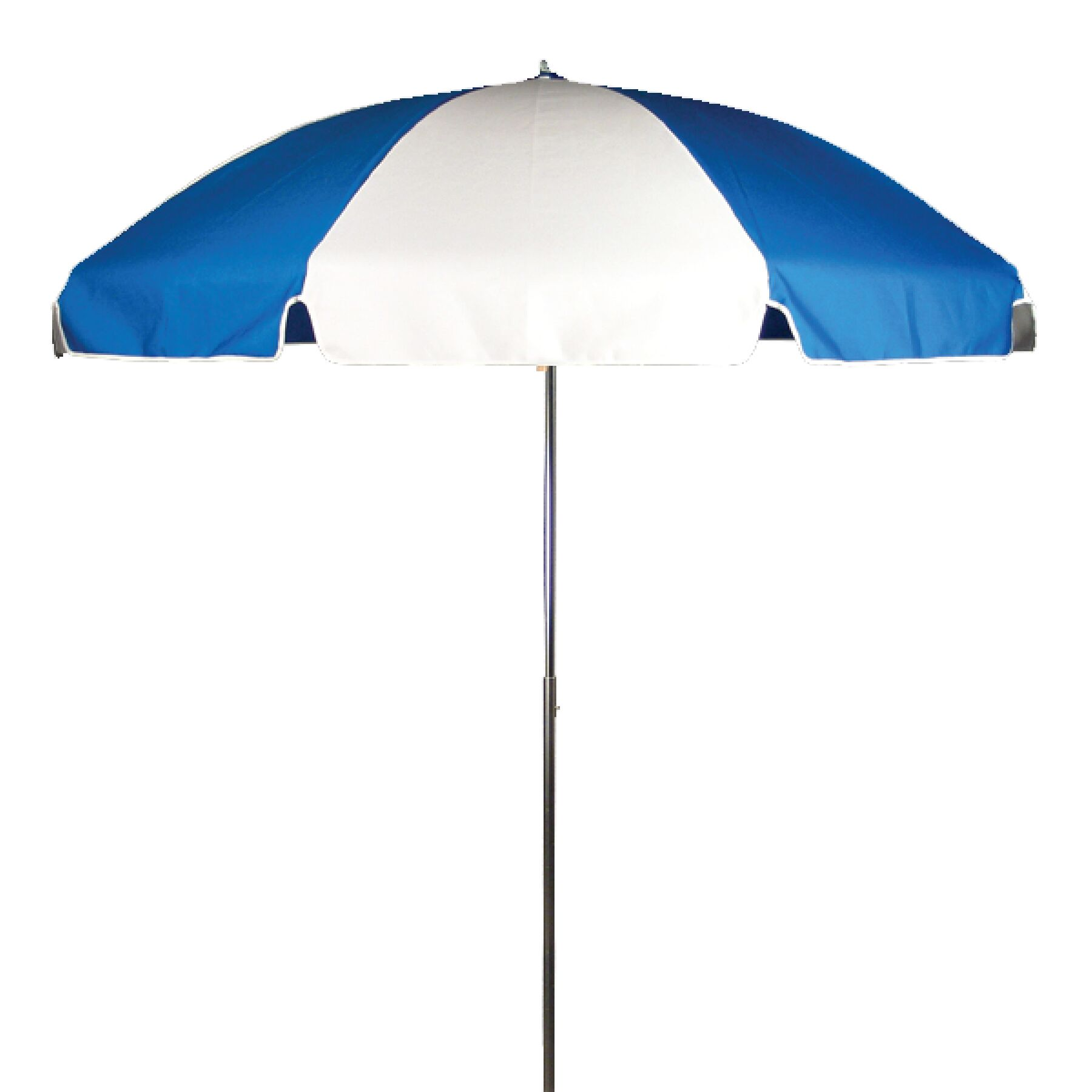 7.5' Drape Umbrella Fabric: Pacific and White