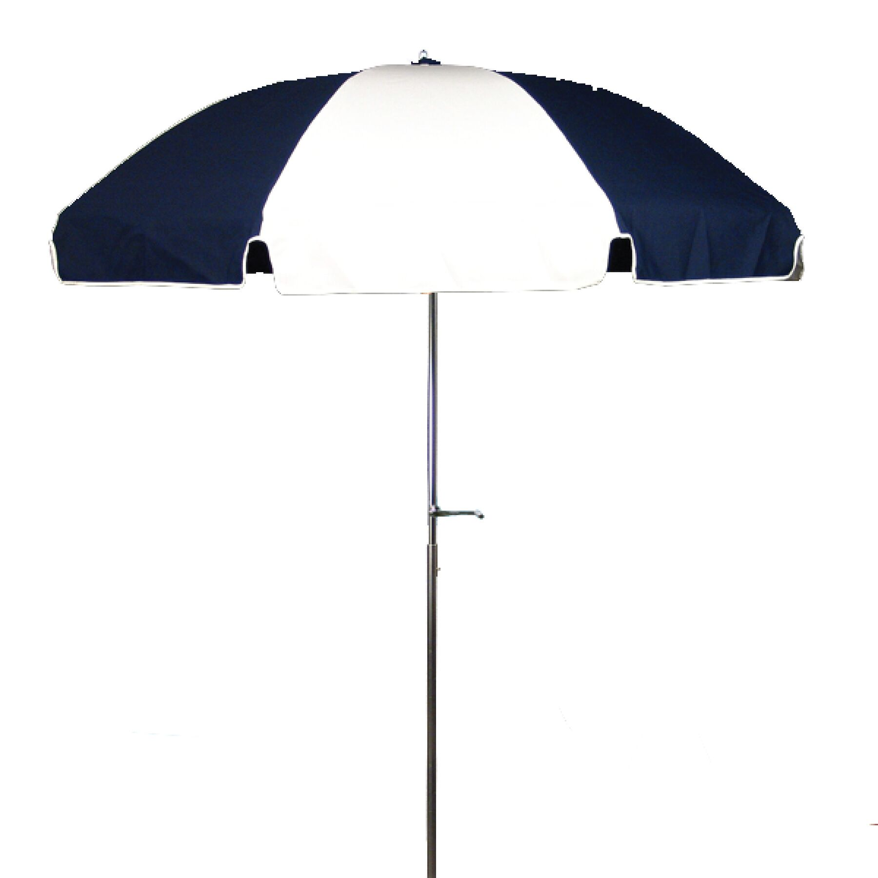 7.5' Beach Umbrella Fabric: Navy Blue and White