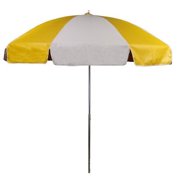 7.5' Beach Umbrella Fabric: Yellow and White