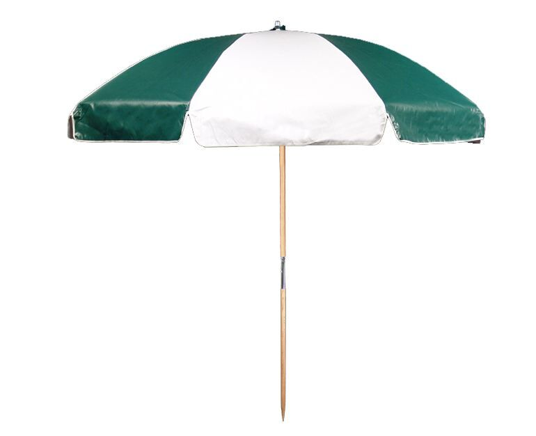 7.5' Beach Umbrella Color: Forest and White