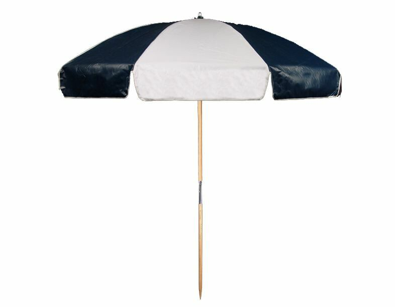 7.5' Beach Umbrella Color: Navy Blue and White