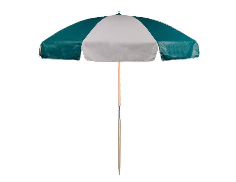 7.5' Beach Umbrella Color: Teal and White