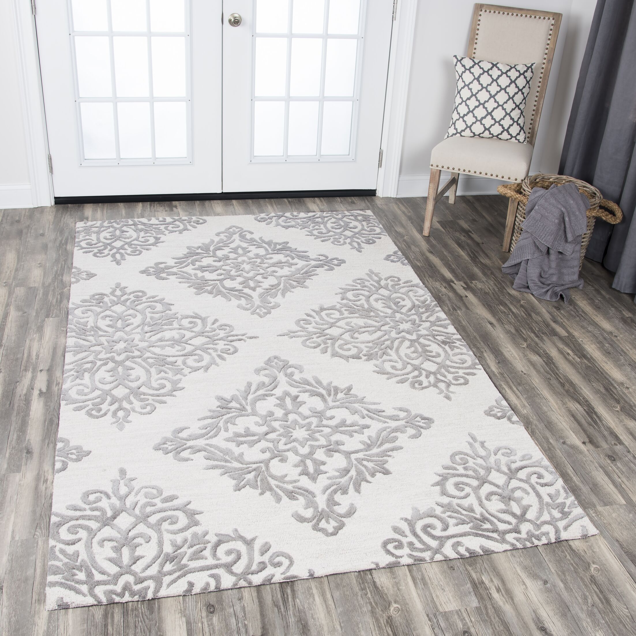 Pohl Hand-Tufted Natural Area Rug Rug Size: Rectangle 8' x 10'