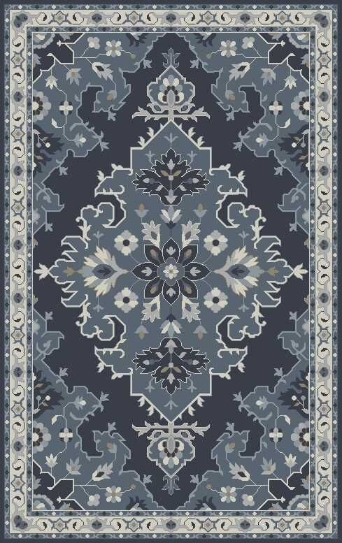 Polen Hand-Tufted Dark Gray Area Rug Rug Size: 8' x 10'