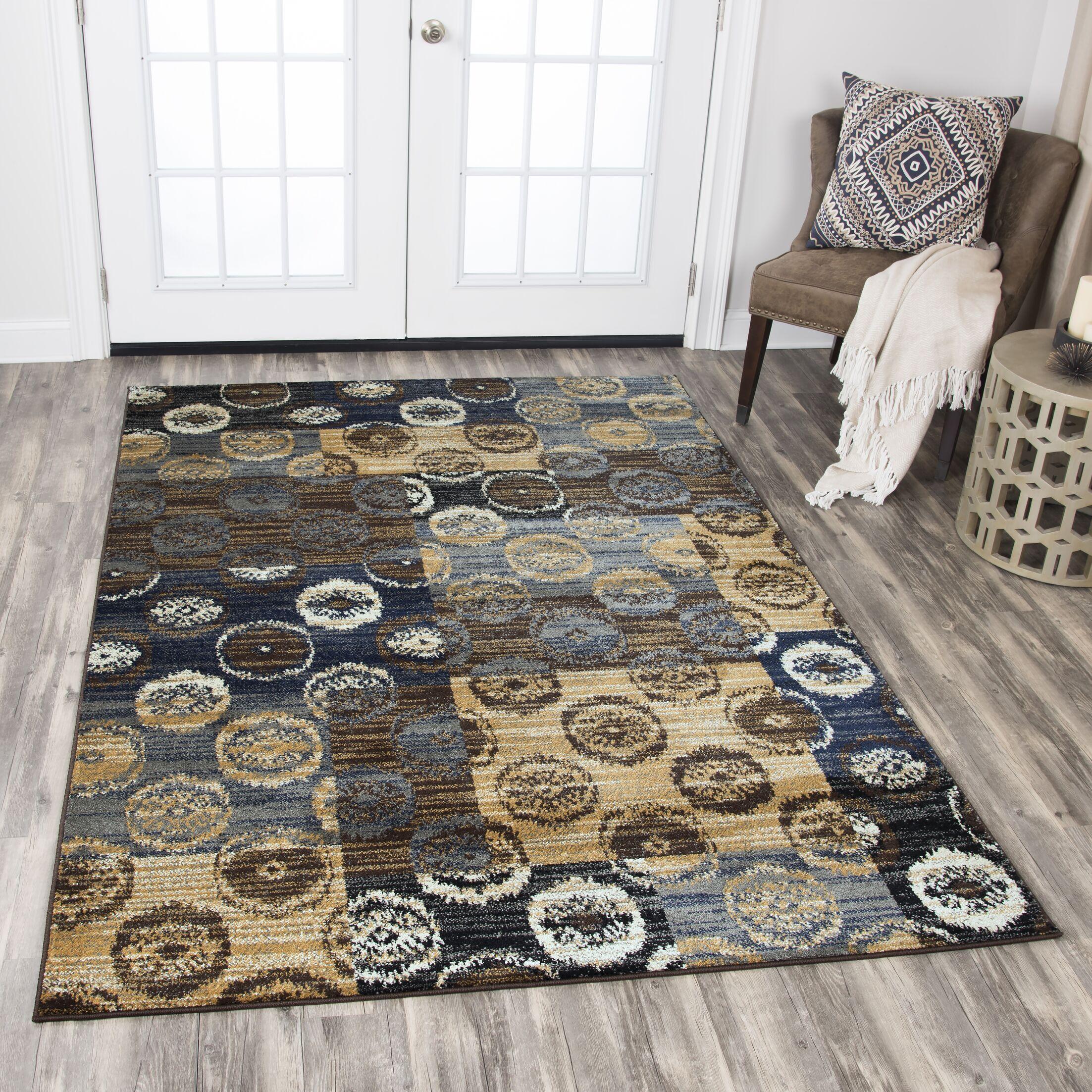 Phillip Beige/Brown Area Rug Rug Size: Rectangle 8' x 10'