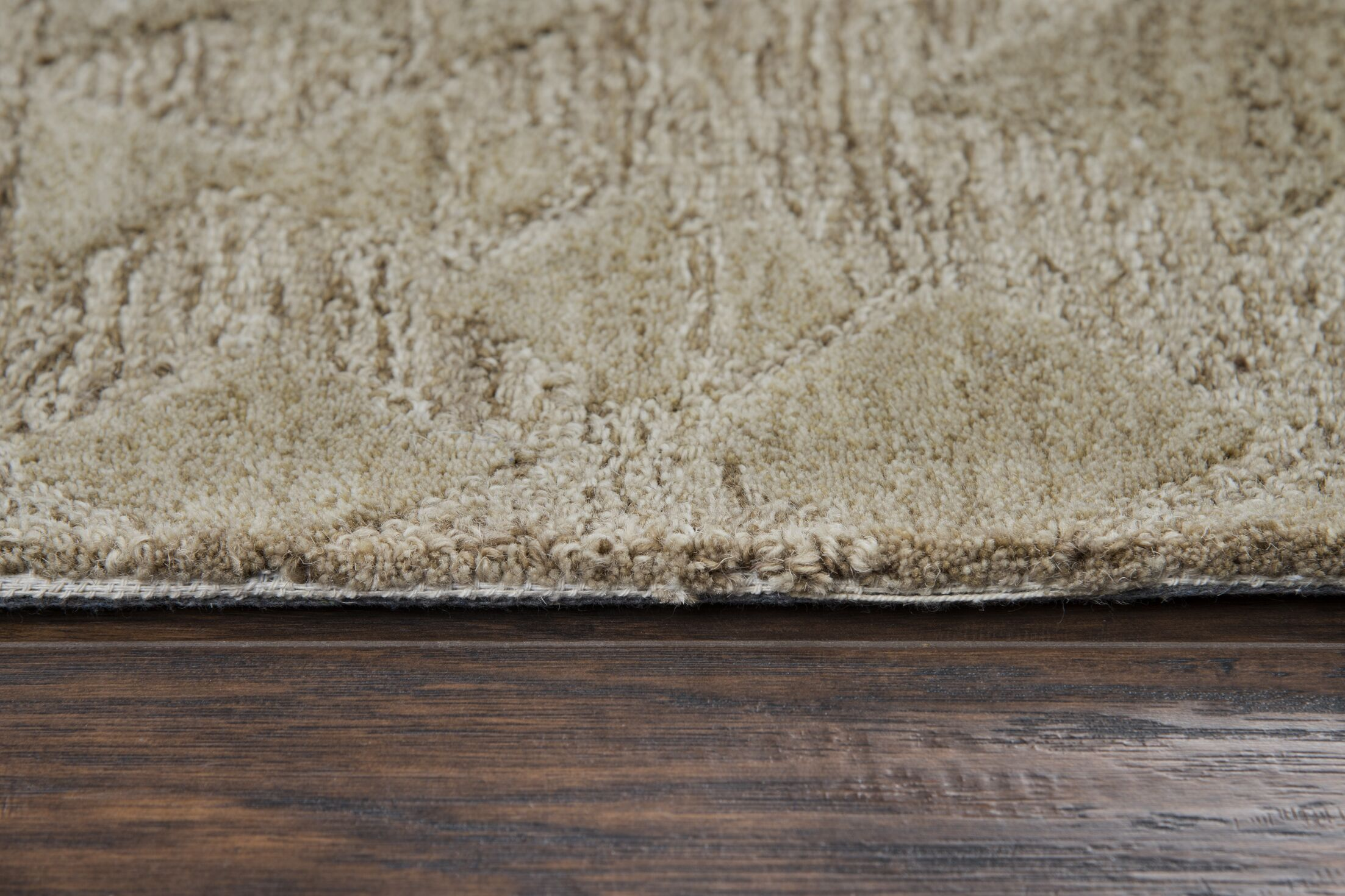 Phan Hand-Tufted Wool Beige Area Rug Rug Size: Rectangle 10' x 13'