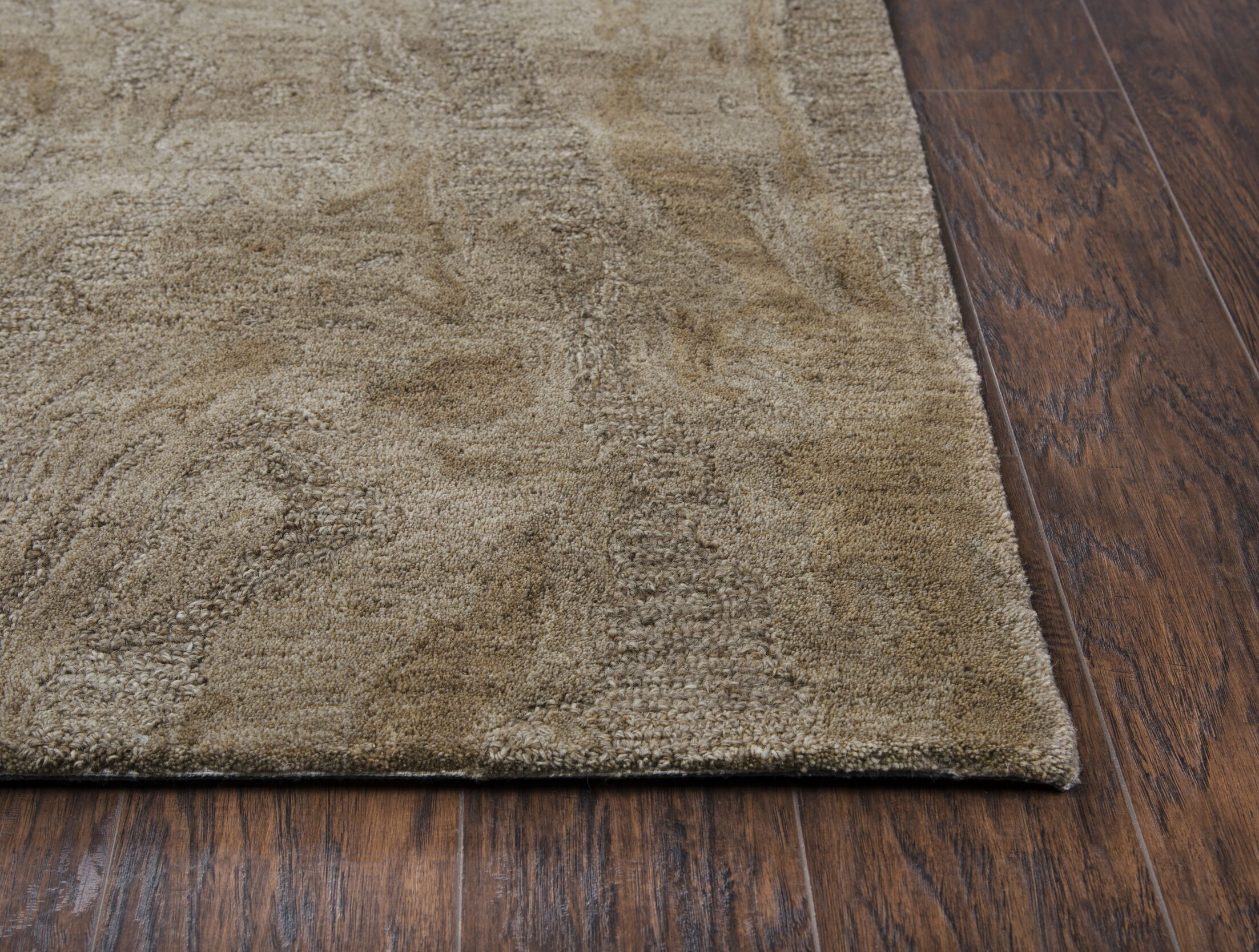 Phan Hand-Tufted Wool Brown Area Rug Rug Size: Rectangle5' x 8'