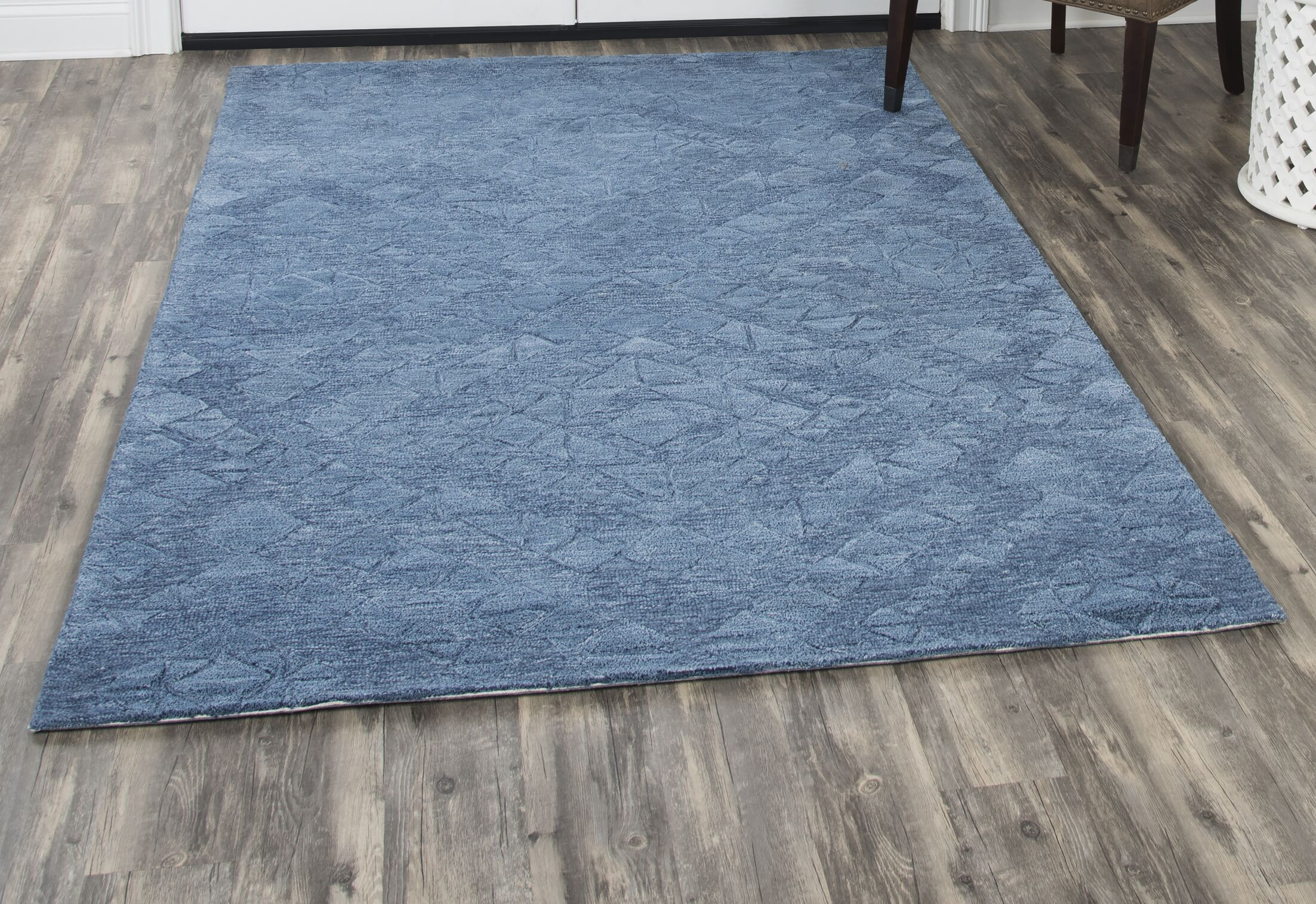 Phan Hand-Tufted Wool Blue Area Rug Rug Size: Rectangle 5' x 8'
