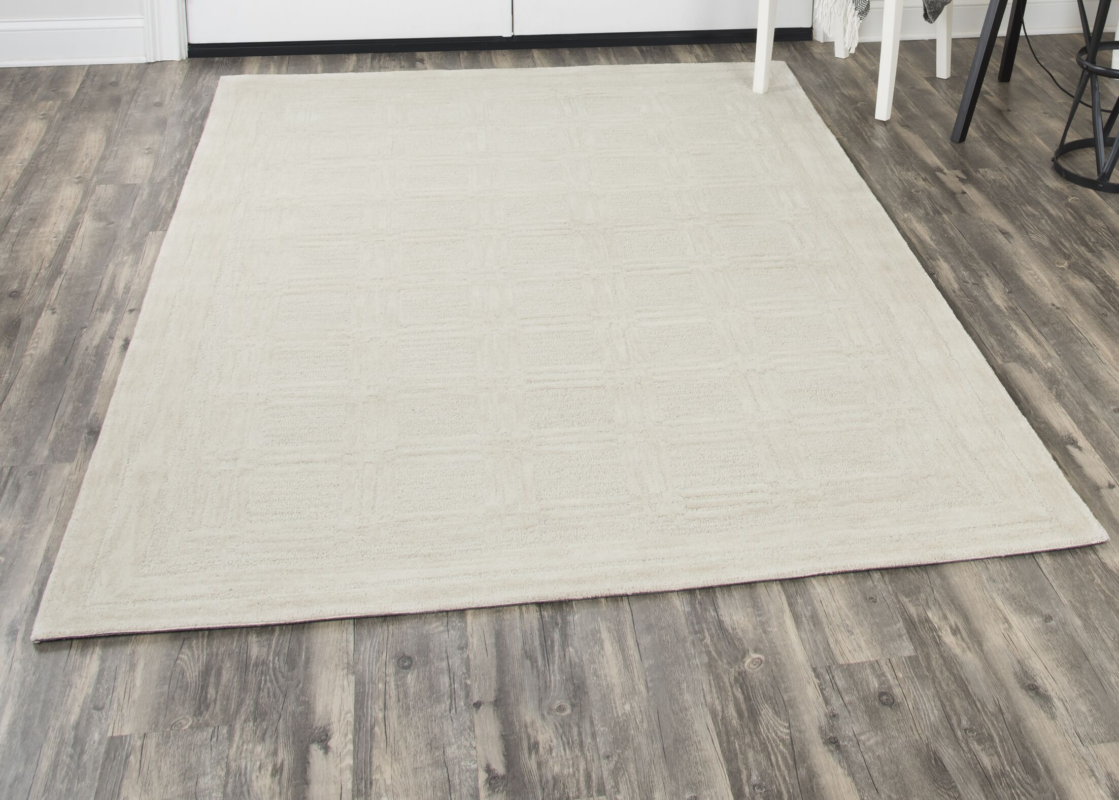 Phan Hand-Tufted Wool Beige Area Rug Rug Size: Rectangle10' x 13'