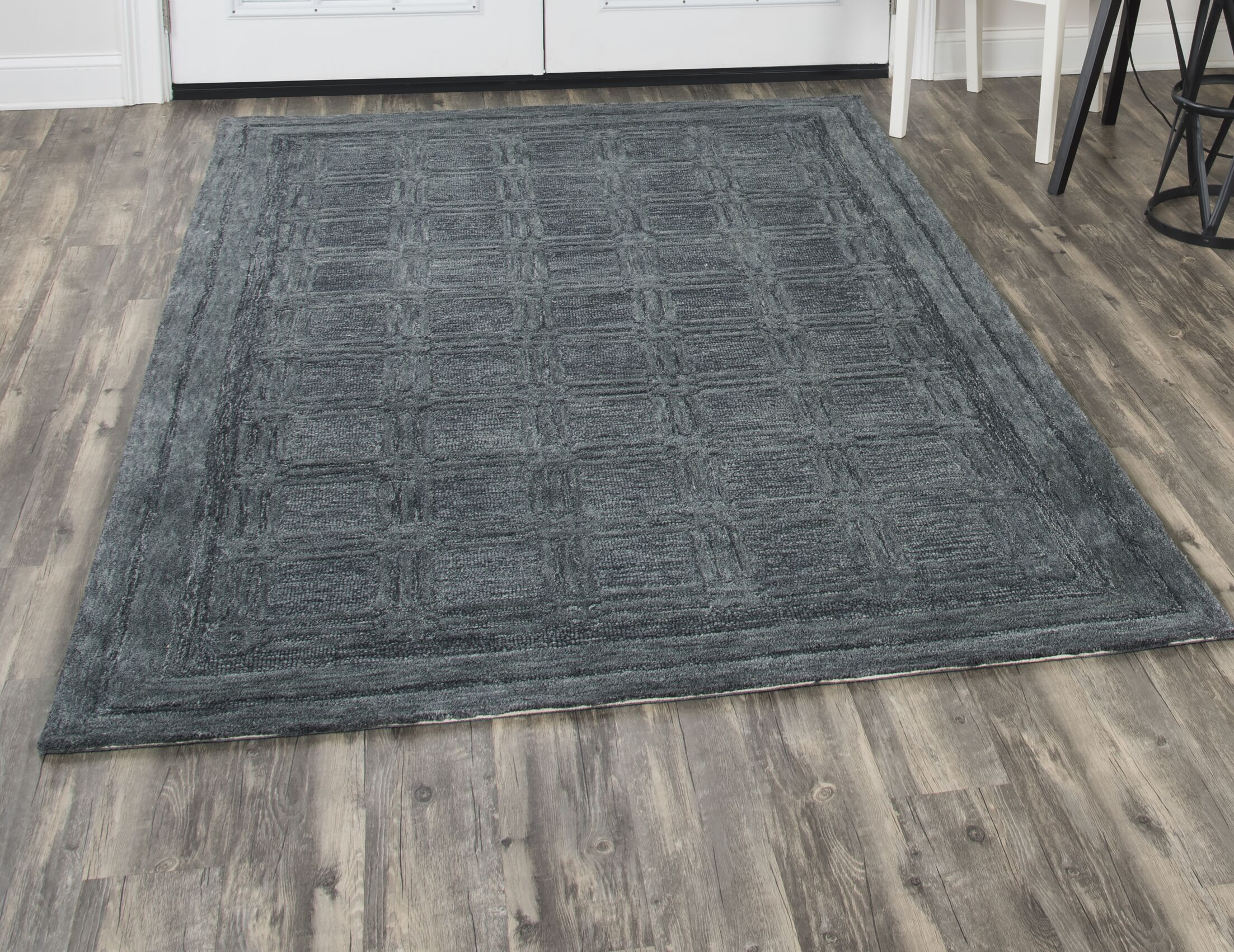Phan Hand-Tufted Wool Dark Gray Area Rug Rug Size: Rectangle 10' x 13'