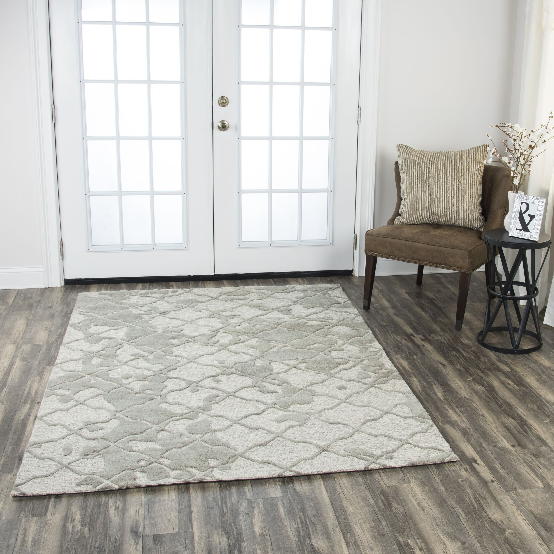 Laoise Hand-Tufted Wool Gray Area Rug Rug Size: 8' x 10'