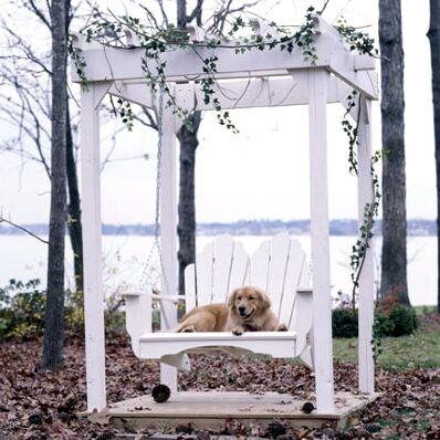 Fanback Porch Swing