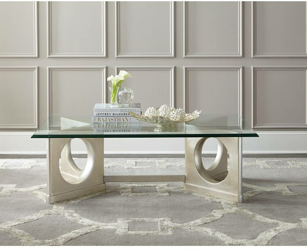 Virage Coffee Table Base Color: Antique Silver