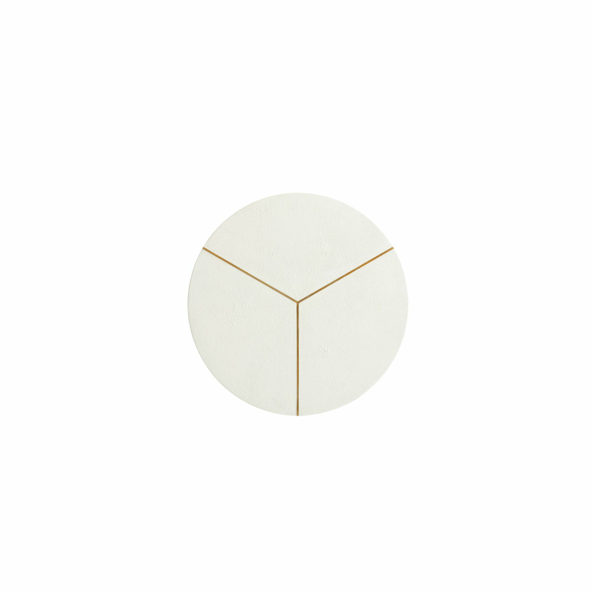 Panavista End Table with Storage Color: Pearl