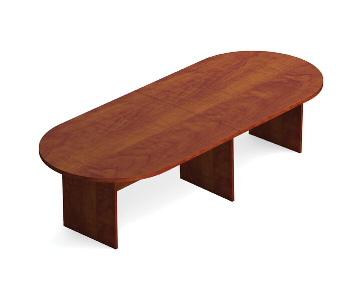 Superior Oval Conference Table Size: 10' L, Finish: American Dark Cherry