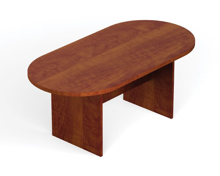 Superior Oval Conference Table Size: 10' L, Finish: American Mahogany
