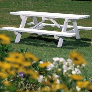 Picnic Table with Bench Finish: Grey