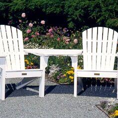 Adirondack Tete-a-Tete Attachment Bistro Table Finish: Green
