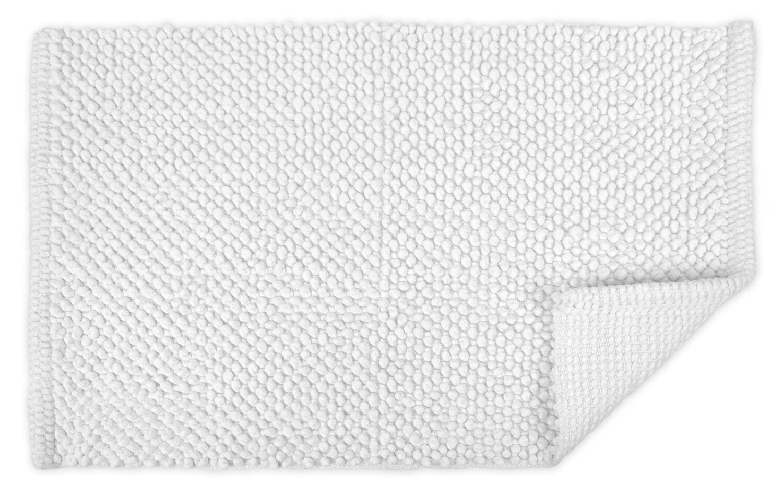 Torino Popcorn Bath Rug Color: White