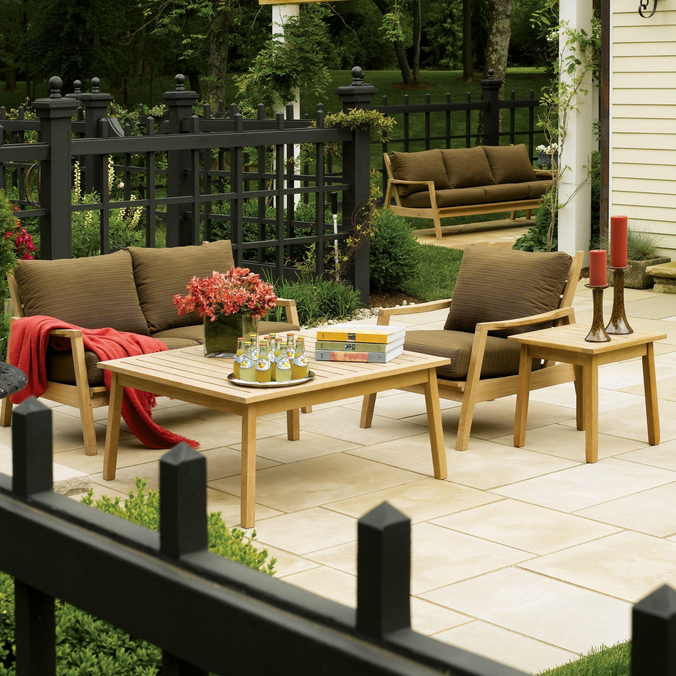 Corum 5 Piece Sofa Set with Cushions Fabric: Natural
