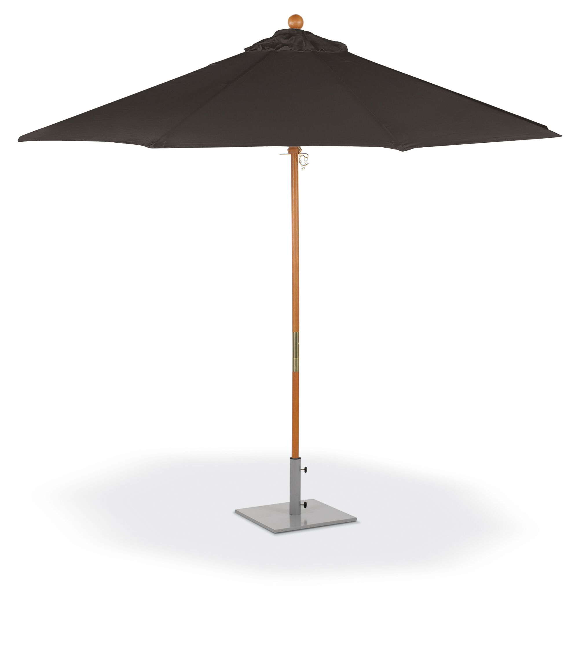 Standwood Sunbrella 9' Market Umbrella Fabric Color: Black