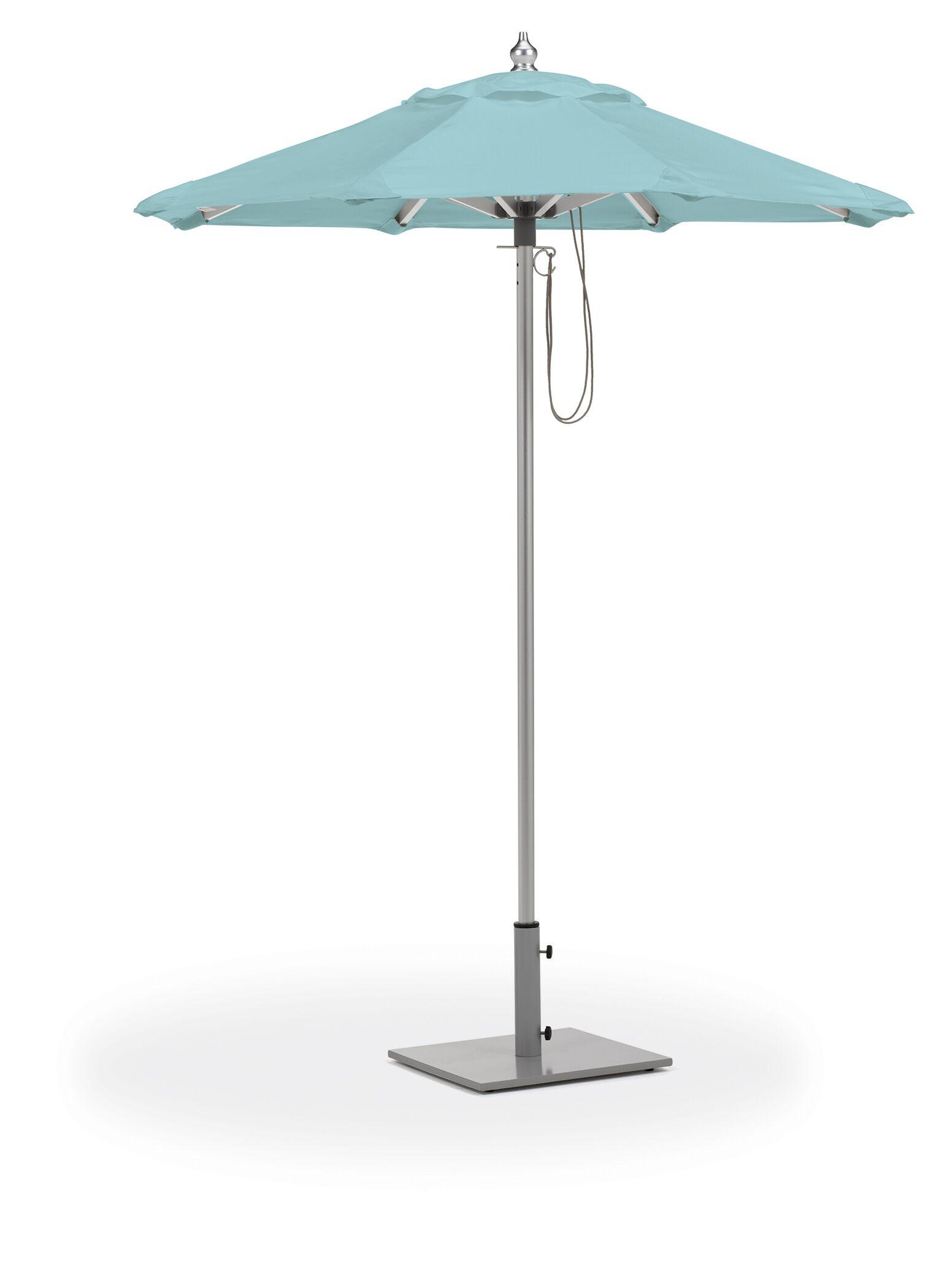 Stambaugh 6' Market Umbrella Fabric: Mineral Blue
