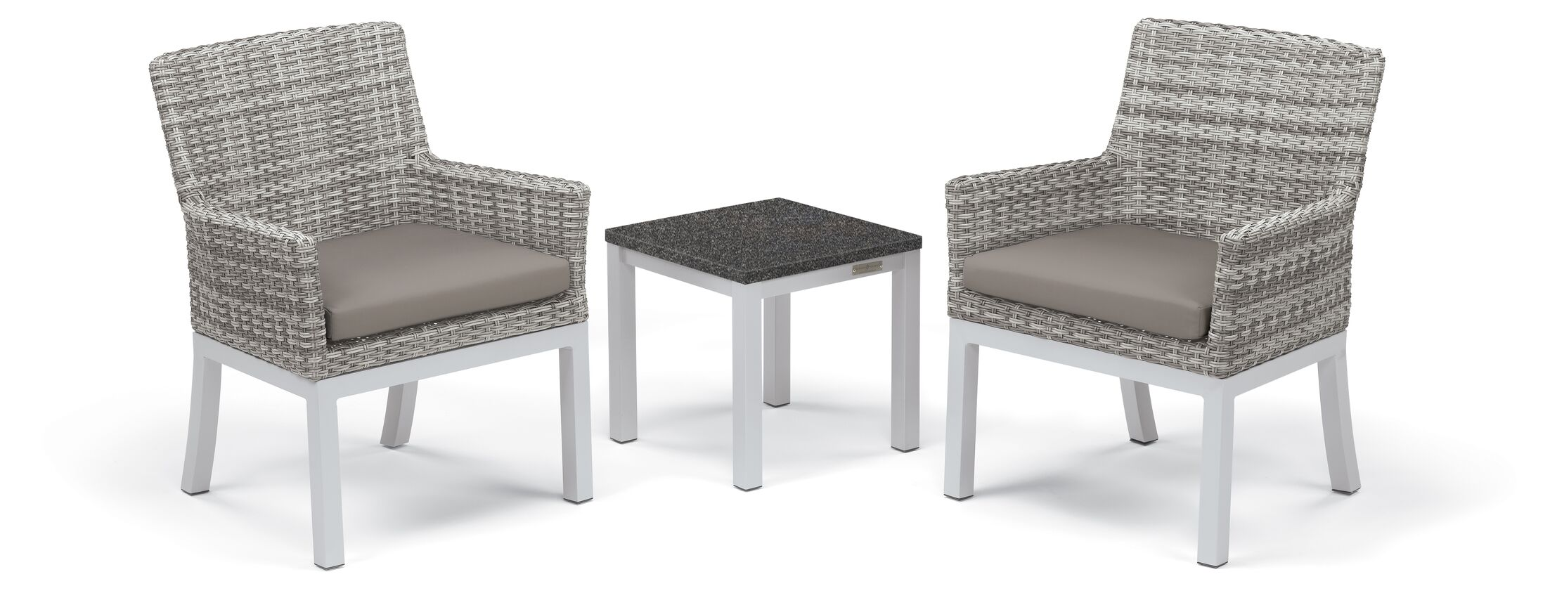 Lambright 3 Piece Conversation Set with Cushions Frame Color: Charcoal, Fabric: Stone