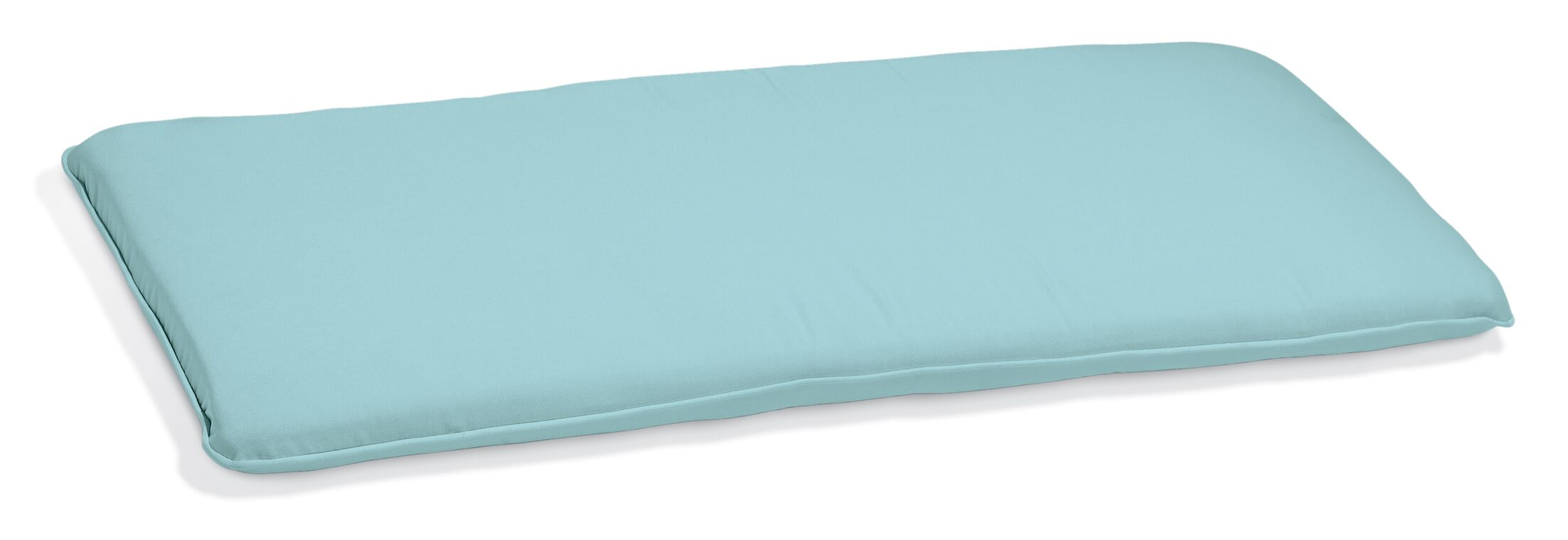 Indoor/Outdoor Sunbrella Bench Cushion Fabric: Mineral Blue, Size: 2.5