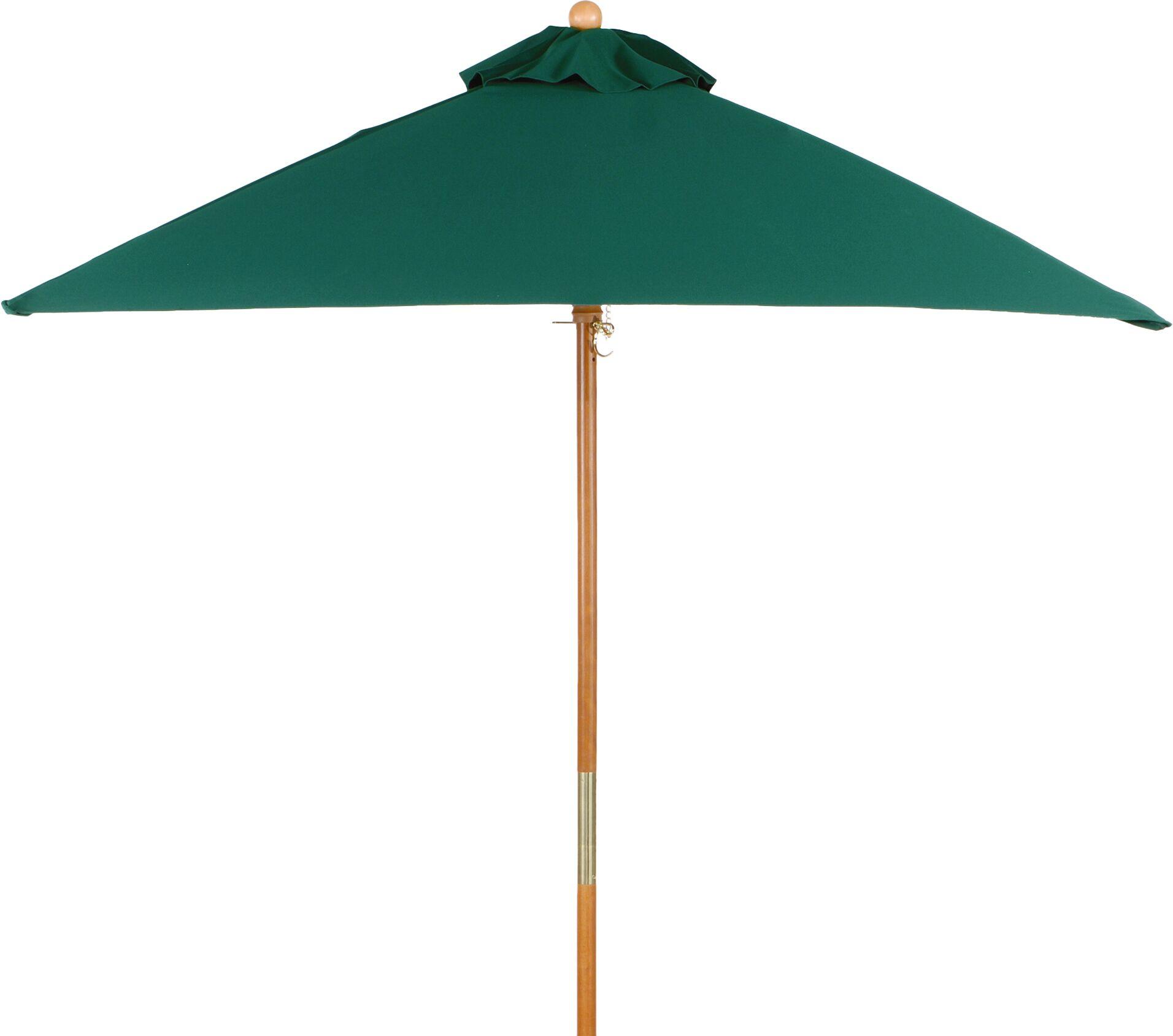 6' Oxford Square Market Umbrella Fabric: Hunter