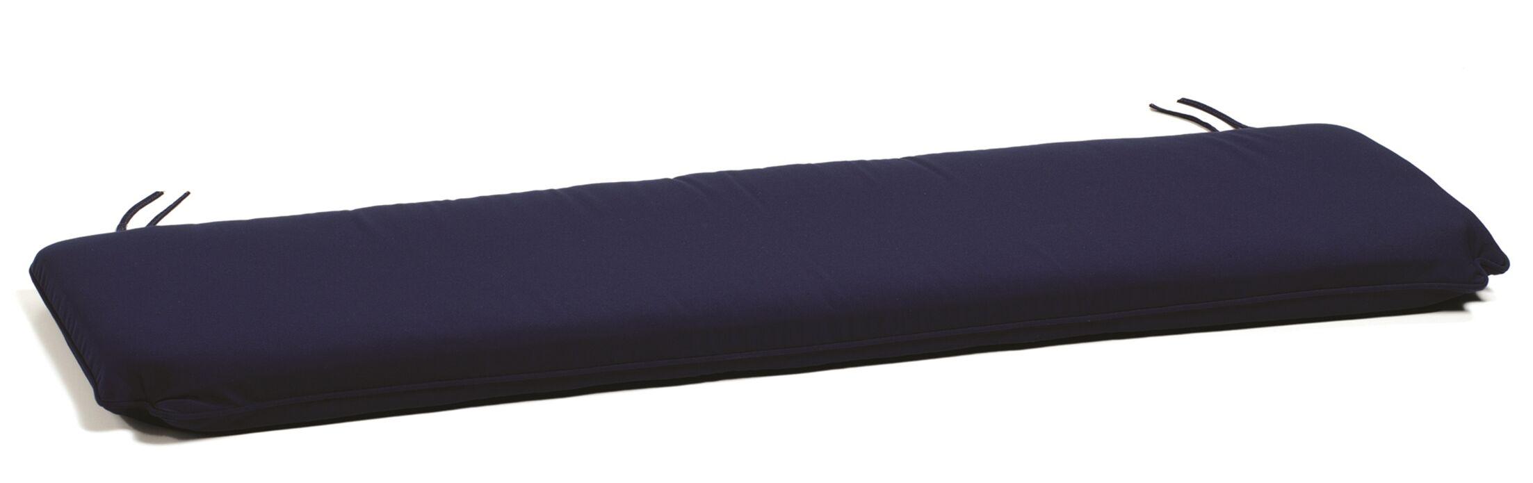 Indoor/Outdoor Bench Cushion Cushion Color: Dupione Walnut, Cushion Size: 72