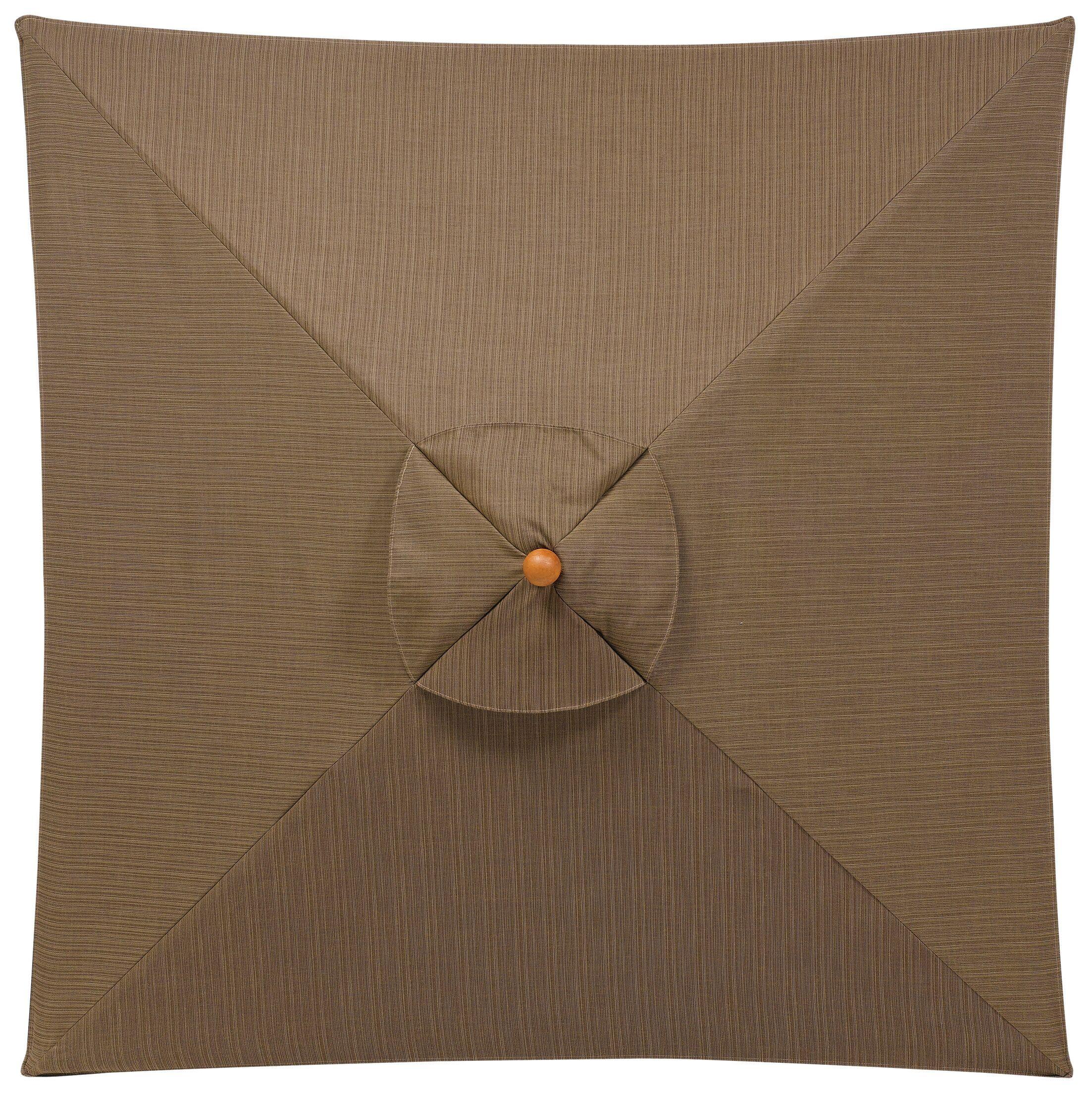 6' Oxford Square Market Umbrella Fabric: Dupione Walnut