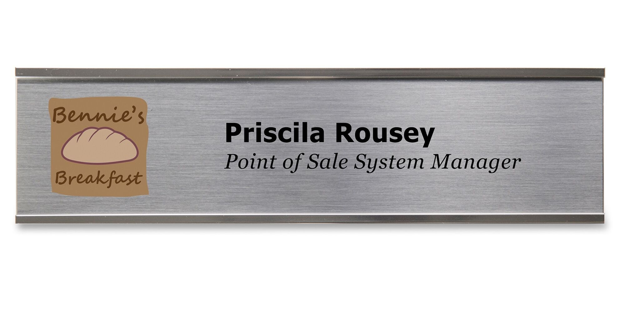 Wall Plate Sign Kit Color: Silver